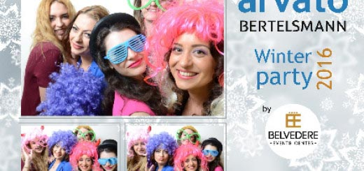 Cabina Foto Photobooth Arvato Bertelsmann Winter party 2016
