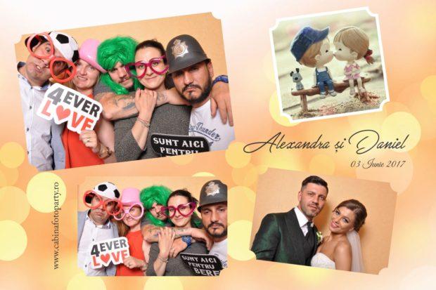 Cabina foto inchiriata nunta -Alexandra si Daniel-Casa Venus