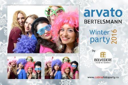 Cabina Foto Photobooth Arvato Bertelsmann Winter party 2016