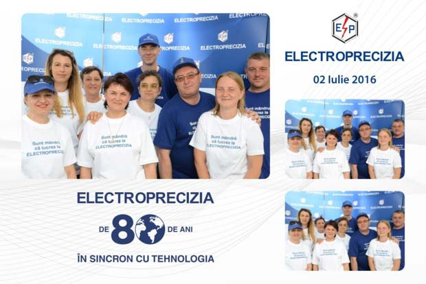 Cabina foto corporate - 80 Ani Electroprecizia - Brasov