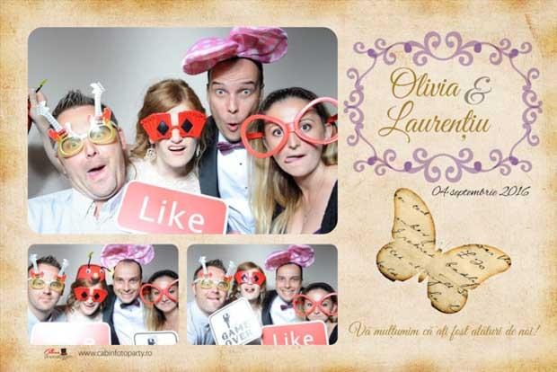 Cabina foto nunta - Laurentiu si Olivia - Brasov Belvedere