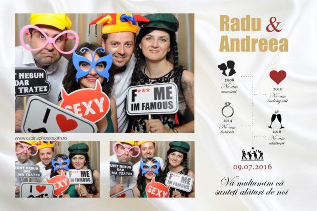 Cabina foto nunta - Radu si Andrea - Photobooth nunta Brasov Tess Ballroom