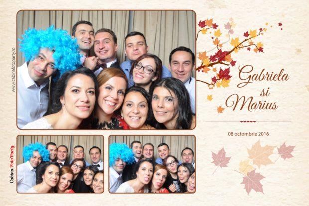 Fotografii tiparite instant la nunta - Gabriela si Marius