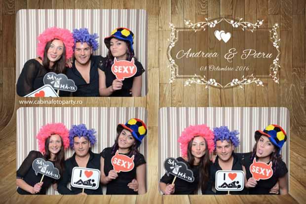 Idei cadou nunta cabina foto - Andreea si Petru