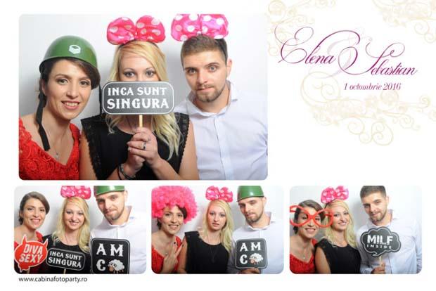 Idei cadou nunta cabina foto - Elena si Sebastian