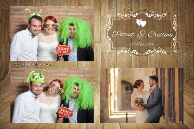 Idei trasnite pentru nunta - Petrut si Cristina inchiriat cabina foto