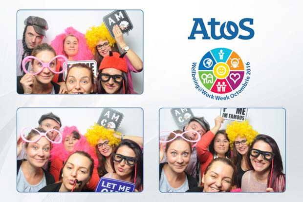 Photobooth Atos Wellbeing Work Week Octombrie 2016