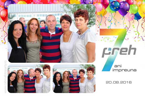 Photobooth corporate petrecere 7 ani Preh Romania