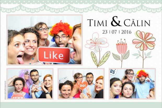 Photobooth de inchiriart nunta Brasov Timi si Calin