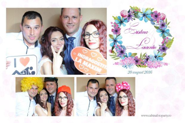 Photobooth nunta de inchirtiat - Cristina si Laurentiu - Trei stejari