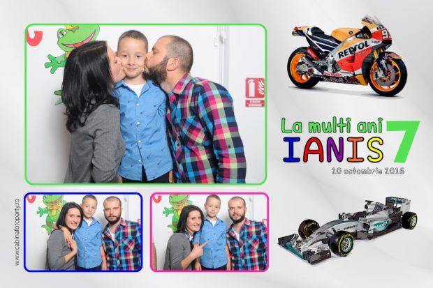 Photobooth petrecere copii - cabina foto de inchiriat Ianis 7 ani