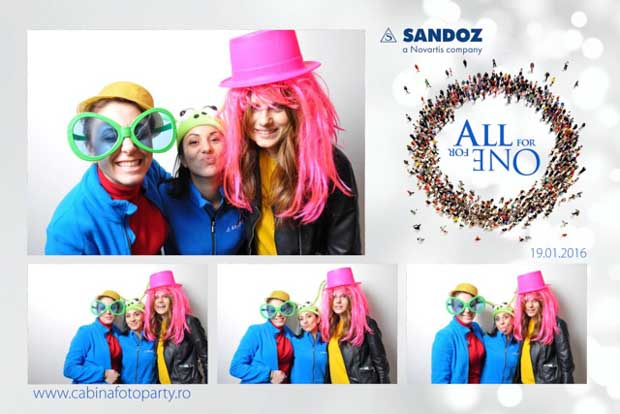 cabina foto corporate - sandoz - photobooth corporate