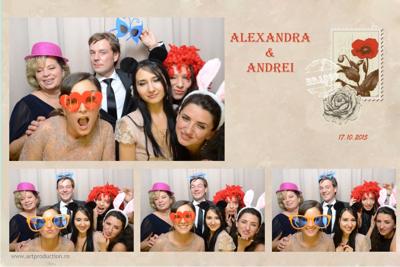 cabina foto nunta Alexandra si Andrei