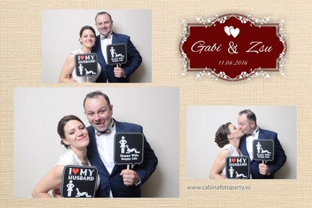cabina foto nunta - Gabi si Zsu - sergiana