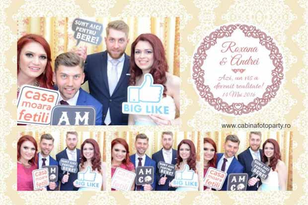 Marturie foto nunta cabina foto pentru nunta roxana si andrei